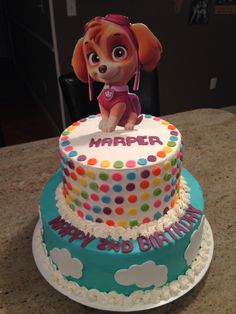 Paw Patrol cake for a little girl