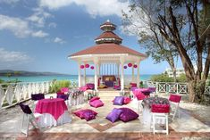 Picture perfect gazebo for your colorful and traditional celebration from Palladium Hotels & Resorts #destinationwedding #inspiration