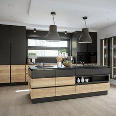 Kitchen Room Design, Modern Kitchen Design, Interior Design Kitchen, Apartment Interior, Home Kitchens, Kitchen Remodel, Unreal Engine, Home Decor, House
