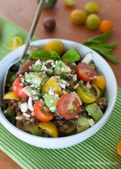 Summer Lentil Salad >> I enjoyed this a lot! This may be my new favorite lunch item. Next time will add a little more mustard though since I really like mustard.