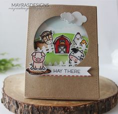 Mayras Designs: Hay There with Lawn Fawn....