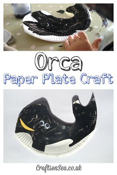 Orca Paper Plate Craft (Killer Whale) fun activity for kids and preschoolers!