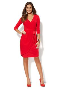 9203ff8517 Shop Belted Faux-Wrap Dress. Find your perfect size online at the best price