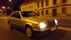 Night ride in coupe from mercedes c124