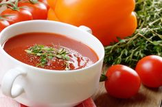 Dirty Gazpacho: This easy chilled soup is the perfect appetizer to keep your cravings in check.
