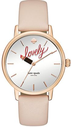 Kate Spade New York Metro Vechetta Leather Ladies Lovely/Lipstick Watch KSW1054 http://www.commentsjunkie.com/ladieswatches/Kate-Spade.shtml