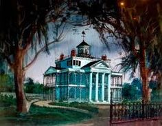 The artwork article of the week is all about early Disneyland concept-arts and don't go away before the end of the article as i will tell . Haunted Mansion Disney, Haunted Houses, Disneyland California Adventure, Disneyland Resort, Tokyo Disneyland, Disney Love, Disney Art, Dark Disney, Walt Disney Imagineering
