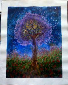 Placenta paint print