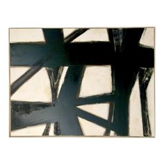 Abstract Black, White, and Parchment Painting Black And White Painting, Black And White Abstract, Black White, White Home Decor, Black Decor, Oil Painting On Canvas, Painting Frames, Abstract Geometric Art, Black Artwork