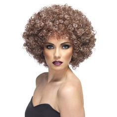 Natural Looking Brown Afro Wig ** Click on the image for additional details.