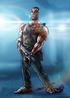 John McClane by DazTibbles on DeviantArt Live Action Movie, Action Film, Action Movies, Lego Movie, Movie Tv, Die Hard Series, Robot, Arte Nerd, Cinema