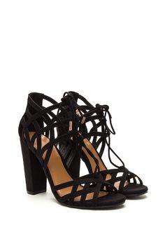 Web Design Chunky Lace-Up Heels GoJane.com