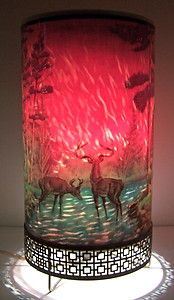 Vintage Antique 1956 L.A. Goodman Forest Fire House Wild Life Deer Motion Lamp - LOVE IT!  Had one when I was little.