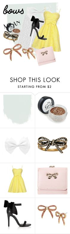 """bows"" by backfiregray on Polyvore featuring Oris, Marc Jacobs, Miss Selfridge and Betsey Johnson"