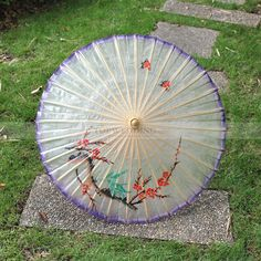 Oiled Paper Wedding Umbrella with Plum Blossom and Bird Pattern