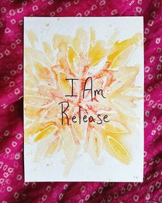 . I Am Release Original 5x7 watercolor and acrylic ink from the@i_am_powerdeck  This original is available for $7 + shipping ($5 US and $8 international.) Does this one speak to you? Comment SOLD below!  Check out#iampoweroriginalsto see the rest! . . . . #iampowerdeck#brittburkardart#art#watercolor#iam#texasartist#houstonartist#artforsale #abmlifeiscolorful