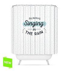 Rideau de douche pour baignoire en polyester Motif en anglais Singing (français non garanti) 180x 200cm: Amazon.fr: Cuisine & Maison