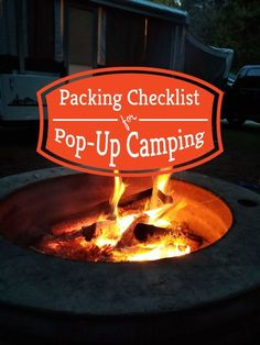 Pop Up Camping Checklist for Packing Pop up camping checklist to pack for your next trip. Make sure you always have what you need for every camping trip. # Pop-up Camping Packing, Camping List, Camping Guide, Camping Essentials, Camping Hacks, Camping Recipes, Backpack Camping, Camping Gadgets, Camping Outfits