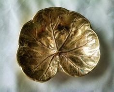Virginia Metalcrafters Cast Solid Brass Geranium Leaf by ClassicVintageMetals on Etsy
