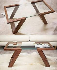 House Furniture Design, Diy Furniture Projects, Home Room Design, Home Decor Furniture, Furniture Plans, Diy Home Decor, House Design, Wood Table Design, Coffee Table Design