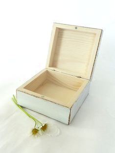 White Wooden Box with flowers Trinket Box Keepsake Box Jewelry Box Ring Box Rustic Distressed Shabby chic Box Wedding Ring Box Gift for her Christmas gift Birthday gift Girls gift MATERIAL and DECORATION: Wooden box painted, distressed and decorated using decoupage technique. Closing