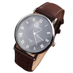 Cheap masculino, Buy Quality masculinos relogios directly from China masculino watch Suppliers: 2016 Luxury Men's Watch Fashion Faux Leather Mens Quartz Analog Watch Casual Men Military Watch Watches Relogios masculinos Rolex, Hand Watch, Watch 2, Luxury Watches For Men, Leather Watch Bands, Cool Watches, Men's Watches, Dress Watches, Ladies Watches