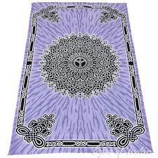TWIN PURPLE INDIAN GEOMETRICAL CELTIC COVERLET BEDSPREAD TAPESTRY Ethnic Decor