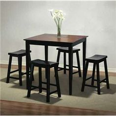 I think this would be nice in the dining room. And it's relatively inexpensive. I just need this in a lighter shade that matches my living room furniture :) Bar Height Table, Counter Height Dining Table, Dining Room Table, Table And Chairs, Dining Sets, Powell Furniture, Small Dining Area, Apartment Living, Apartment Ideas