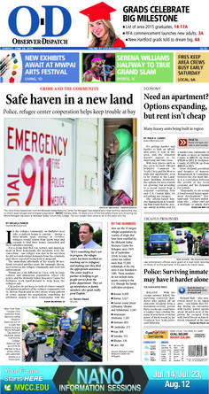 The front page for Sunday, June 28, 2015: Safe haven in a new land