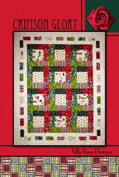 Crimson Glory quilt pattern by Pat Fryer, Villa Rosa Designs