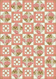 free quilt block patterns to print   One possible layout for a Philadelphia Pavement Quilt