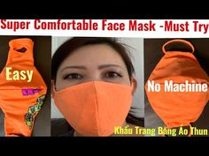 This face mask I am sharing with you. I am sure you will definitely love it. So simple to make and it's make you Upcycled T- shirt and the best part is you d. Sewing Hacks, Sewing Tutorials, Sewing Crafts, Sewing Projects, Projects To Try, Diy Crafts, Easy Face Masks, Diy Face Mask, Do It Yourself Home