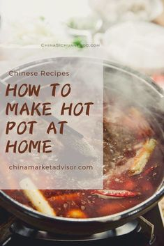 Winter is always the best season when you get hot pot eating, either in the restaurants or at home. Let's find how to prepare a great hot pot part at home. Easy Soup Recipes, Great Recipes, Hot Pot Recipes, Cooking Recipes, Dinner Recipes, Tom Yum Hot Pot Recipe, Chinese Hotpot, Homemade Chinese Food, Traditional Chinese Food