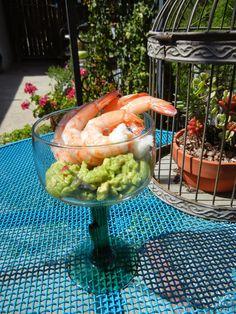 Post Weight Loss Surgery Menus: Guacamole Shrimp Cocktail #healthy #recipes