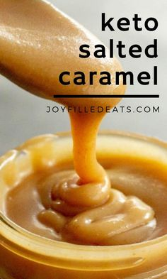 A rich and creamy sugar-free caramel sauce that is good on just about anything! This salted caramel sauce is ready in less than 20 minutes for your spoon licking pleasure. This easy keto caramel recipe is low carb, gluten-free, keto, grain-free, sugar-free, and Trim Healthy Mama friendly.