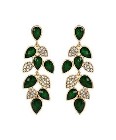 Look what I found on #zulily! Gold & Evergreen Crystal Milly Drop Earrings by Amrita Singh #zulilyfinds