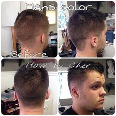 Men's dark brunette hair color style