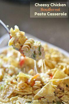 Cheesy Chicken Southwest Pasta Casserole 1 by laurenslatest, via Flickr