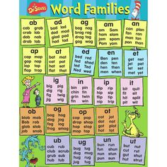 dr seuss content word families set of 3