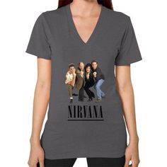 Nirvana Seinfeld V-Neck (on woman) Shirt