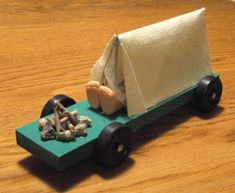 This is going to be my pinewood derby car! Cub Scouts Wolf, Tiger Scouts, Girl Scouts, Cub Scout Crafts, Cub Scout Activities, Awana Grand Prix Car Ideas, Camping Crafts, Camping Theme, Camping Gear