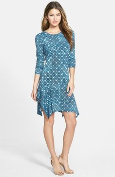 1920s style day dress - Women's MICHAEL Michael Kors 'Munabao' Print Long Sleeve Drop Waist Dress