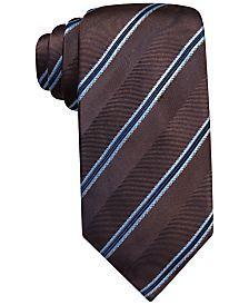 Tasso Elba Cortona Floral Stripe Tie, Only at Macy's