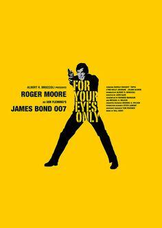 For Your Eyes Only (1981) - Minimal Movie Poster by Owain Wilson ~ #minimalmovieposter #alternativemovieposter #owainwilson #bondmoviesminimal