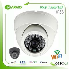 1.3MP HD Waterproof IP66 outdoor wifi wireless IP Network camera wi-fi support Free Phone and PC APP, webcam #shoes, #jewelry, #women, #men, #hats, #watches, #belts