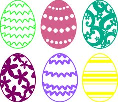 Easter Egg Cutting Files Free SVG Download