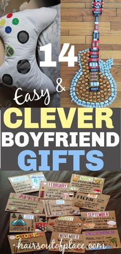 14 easy DIY gifts for your boyfriend that are perfect for boyfriend Christmas ideas or his birthday. he'll love these clever and meaningful handmade gifts for him. DIY Gifts 14 DIY Christmas Gifts for Boyfriend Diy Xmas, Diy Christmas Gifts For Boyfriend, Cute Valentines Day Gifts, Boyfriend Crafts, Gifts For Your Boyfriend, Cute Gifts, Boyfriend Boyfriend, Meaningful Gifts For Boyfriend, Handmade Gift For Boyfriend