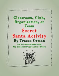 Class, Team, Club, Organization Secret Santa Activity - free download with student questionnaire