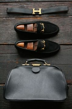 I can live without the belt & shoes, but the doctors bag....????..... that's a must have!! #Hermes