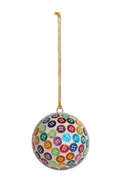 Round Button Ornament - Set of 6